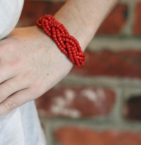 how to weave bracelet from beads